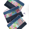 Upcycled Denim & Patchwork Style - Zip Pouch