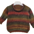 Jumper, sweater, size 1-2, hand knitted, boy, girl, autumn earthy colours. Soft
