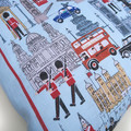 London England UK Linen Cushion