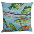 Vintage Retro Australian FISH Linen Cushion Cover