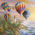 2 Paper Napkins for Decoupage / Parties / Weddings - Air Hot Balloons