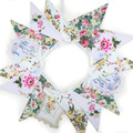 RETRO Vintage Doily / Tablecloth & Fabric Flag Bunting - Garden Party'