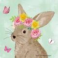 2 Paper Napkins / Serviettes for Decoupage / Parties / Weddings - Easter Rabbit