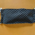 Washable Reusable Adult Face Mask Cotton & Muslin Soft touch inner Black & dots