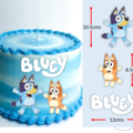 Bluey Bingo and logo Edible Icing Cake Topper Set PRE CUT