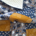 Baby quilt, baby blanket, Sloth quilt, baby quilts, pram quilt, playmat
