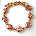 Fascinating Fiery Orange-Crimson  Crystal Stunning Necklace.