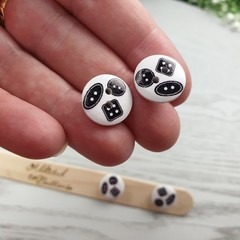 SEWING BUTTONS - Sewing Button - Stud Earrings