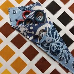 Handy Scissor Holder-Modern blue floral print