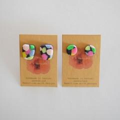 Confetti polymer clay stud earrings