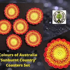 'Sunburnt Country - Colours of Australia' Set of Six Coasters