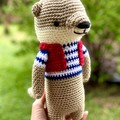 Sea Otter, FREE DELIVERY, crochet toy,  personalised toy, baby boy toy, girl toy