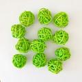 10 Green Rattan Wicker Ornament Decorating Balls