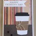 Father's Handmade Card - Coffee