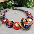 Superhero WW - Necklace Buttons and Polymer - Jewellery - Earrings