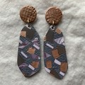 Copper Tones Handcut Dangle