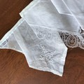 "Vintage Hanky Bunting Wedding, Engagement, Party Boho Linen & Lace""FREE POSTAGE"""