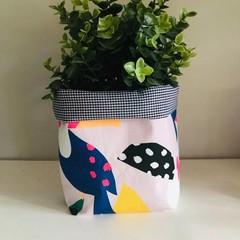 Large fabric planter | Storage basket | TOUCAN