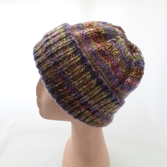 Lilac Hat with Turn-Up Cuff in Medium Adult Size