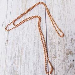 100% copper ball chain with connector - 2mm