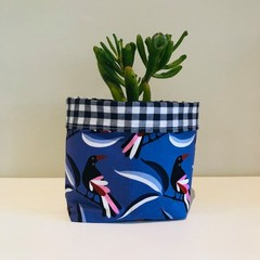 Small fabric planter | Storage basket | WILLY WAGTAIL