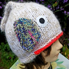 Beanie with fish tail