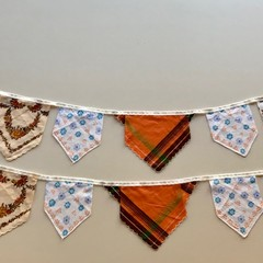 CLEARANCE 2 x Vintage Hanky Bunting Wedding, Engagement, Party Boho FREE POSTAGE