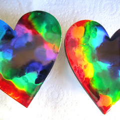 RESIN  HEART Coasters x 4 & Order Form for more!