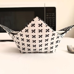 Hot Bowl Cozy | Hot Bowl Holder | Black & White | Reversible | Free Shipping