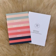 Bold Colourful Stripe Happy Birthday Card