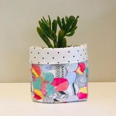 Small fabric planter | Storage basket | PASTEL MOUNTAINS