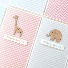Baby card | 5 Designs to Choose From | Koala Giraffe Elephant | Baby Girl Boy
