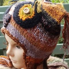 Helmet  with owl theme