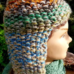 Woollen  pastel toned helmet