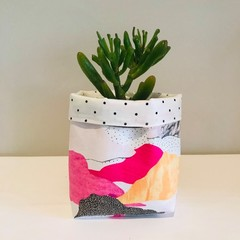 Small fabric planter | Storage basket | CLOUDS AND SPOTS