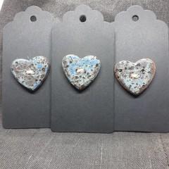 Heart button blue