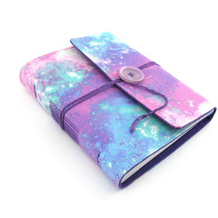 Glitter Galaxy Lined Journal, Notebook, Handbound Book, Dream Journal
