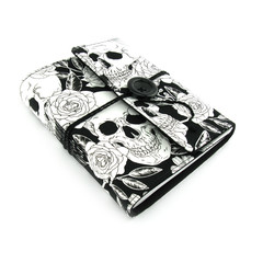 Black Rose Skull Lined Journal, Notebook, Handbound Book, Dream Journal
