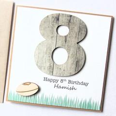 Any Age Birthday card | Personalised | Football Footy | Custom Made