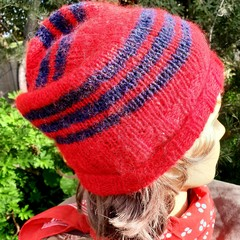 Slouchy in red and blue