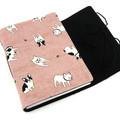 Pink Boston Terrier Dog Lined Journal, Notebook, Handbound Book, Dream Journal