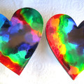 RESIN  HEART Coasters & Place mats  & Order Form for more!