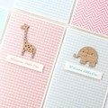 Baby card | 5 Designs to Choose From | Koala Giraffe Elephant | Baby Girl Boy