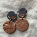 Copper Tones Circles with Terrazzo Tops