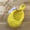 Crochet hanging pod | home decor | storage basket | BRIGHT YELLOW
