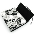 Black Rose Skull Lined Journal, Notebook, Handbound Book, Dream Journal