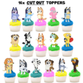 Bluey and Friends Edible Wafer Cupcake Toppers #703