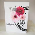 Magenta Flowers, Birthday Wishes, Birthday Card