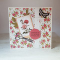 Thinking of You On Your Special Day, Cottage Chic, Floral Greeting Card