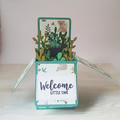 Welcome Little One, New Baby Card, Koala and Kangaroo themed card